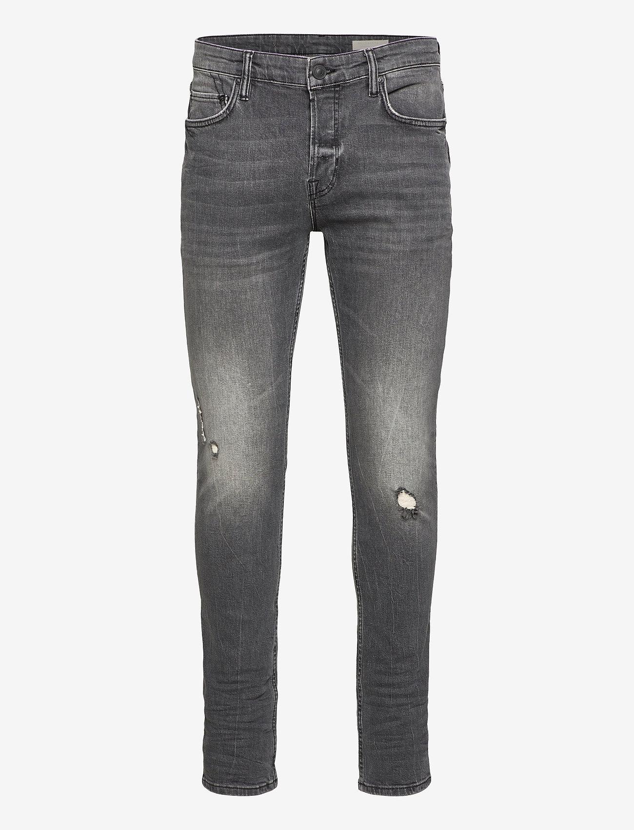 AllSaints - CIGARETTE DAMAGED - slim jeans - faded black - 0