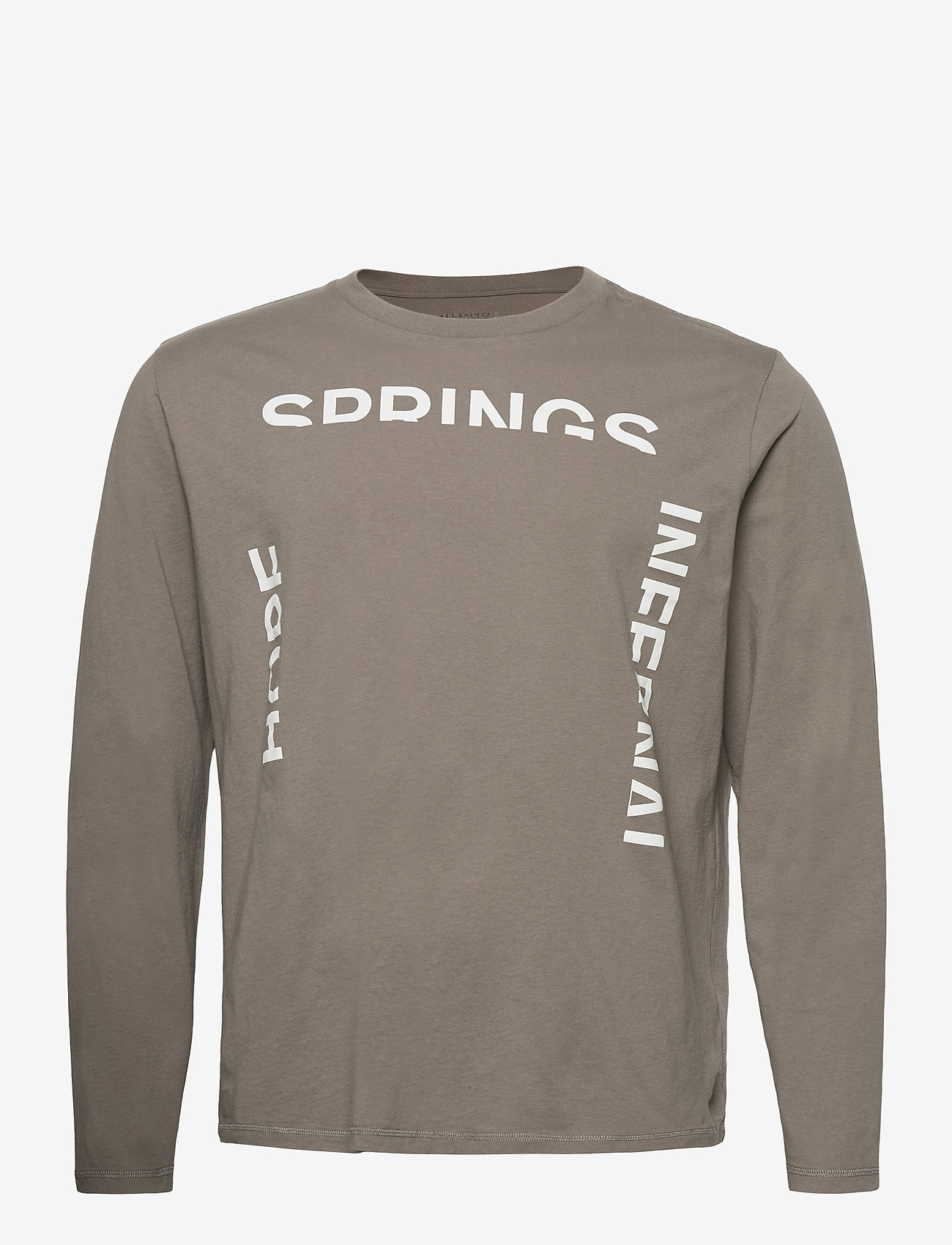 AllSaints - INFERNAL LS CREW - t-shirts basiques - willow taupe - 0