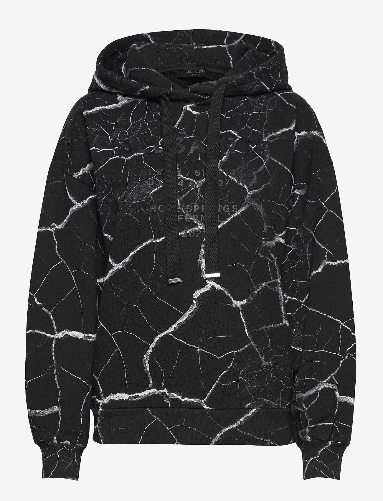 AllSaints - HOPE JEN HOODY - sweatshirts & hættetrøjer - black - 0