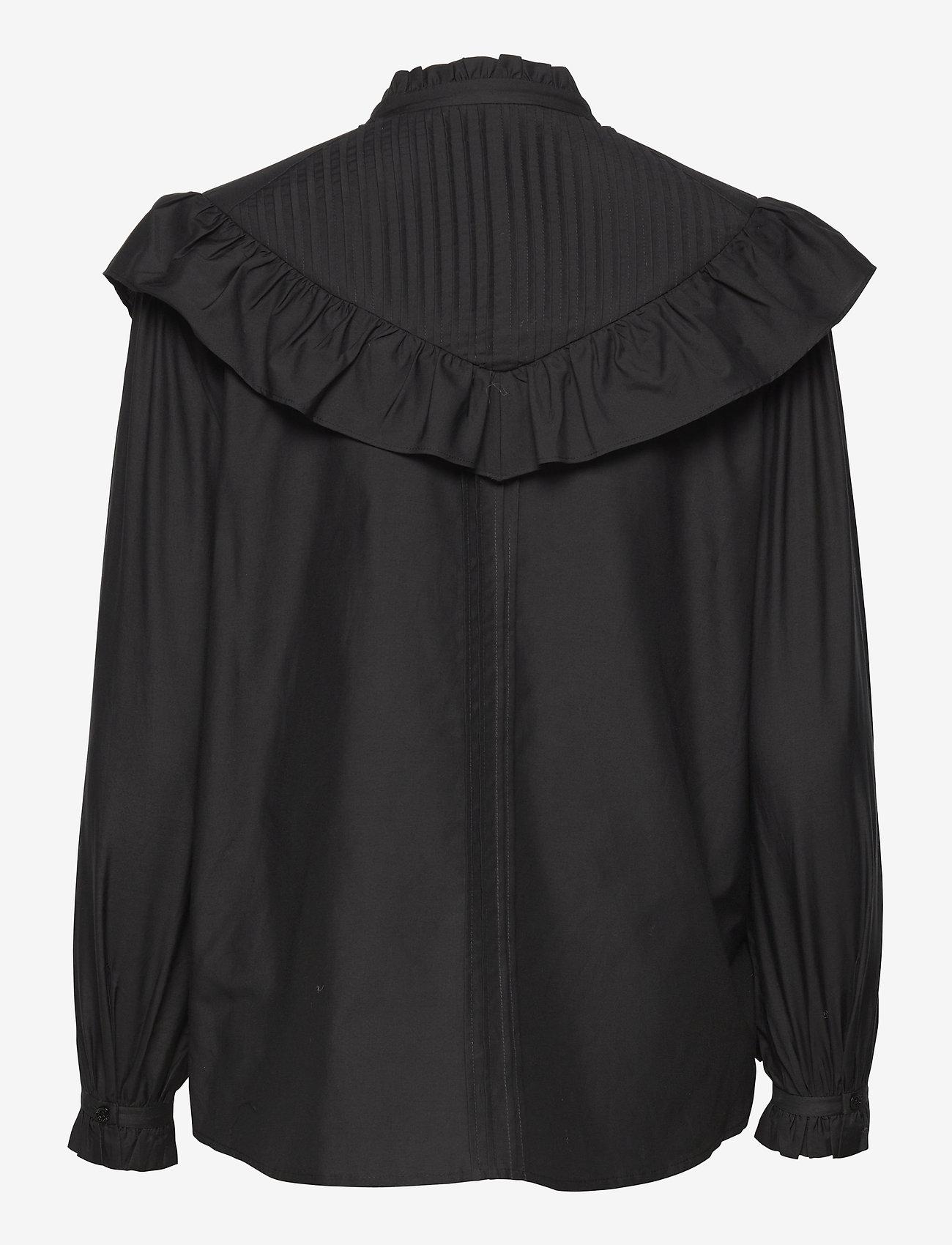 AllSaints - FIALA FRILL SHIRT - chemises en jeans - black - 1