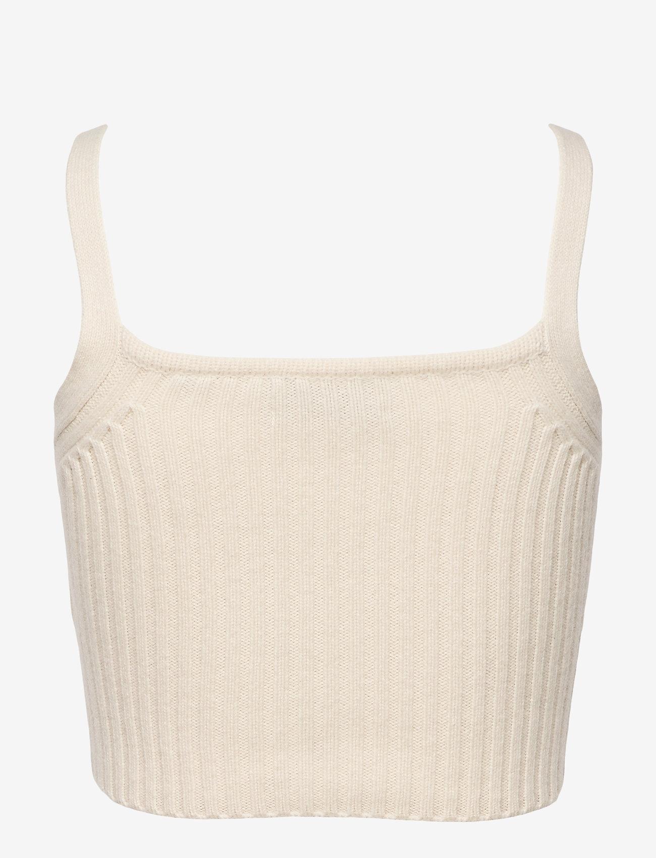 AllSaints - DREW CASHMERE CROP T - crop tops - ivory white - 1