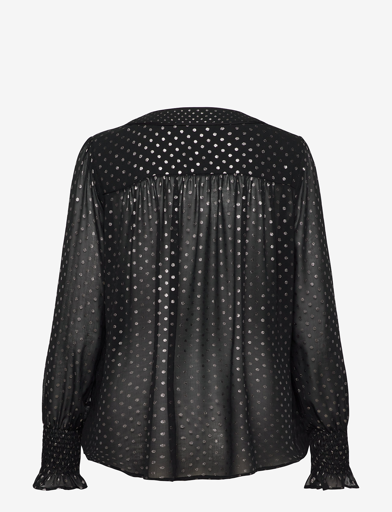 AllSaints - TENAYA DOT TOP - blouses à manches longues - black - 1