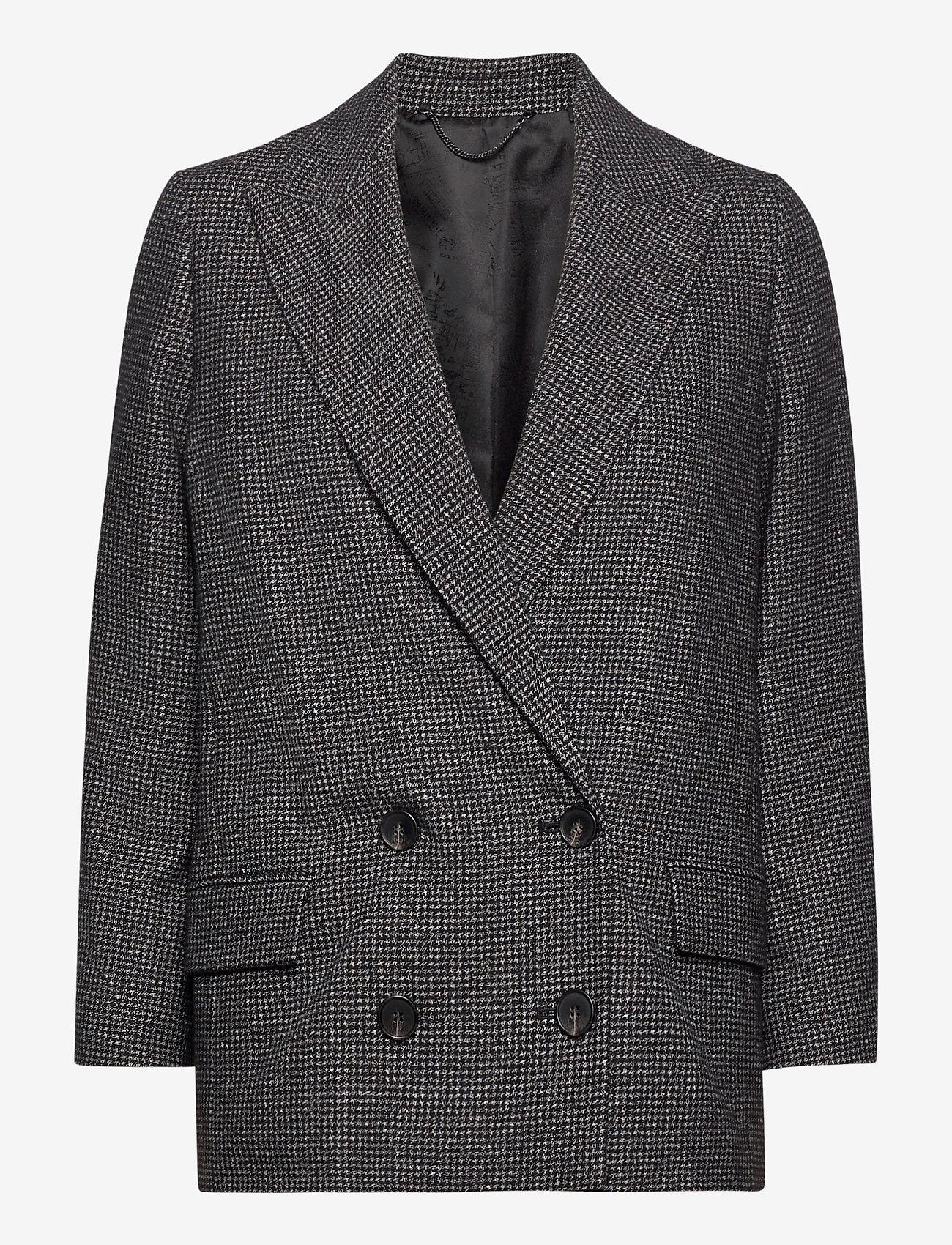 AllSaints - HELEI PUPPYTOOTH BLA - getailleerde blazers - black/white - 1