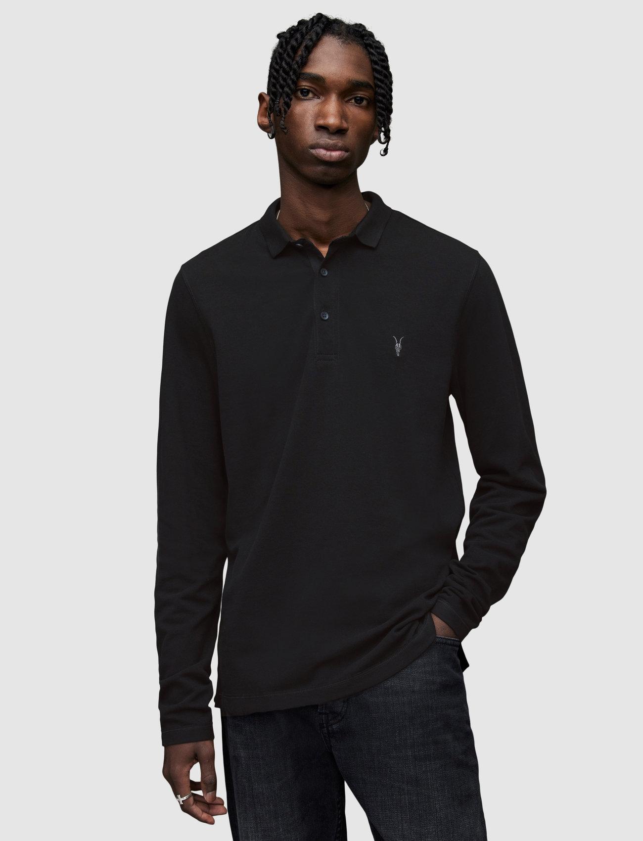 AllSaints REFORM LS POLO - T-skjorter BLACK - Menn Klær