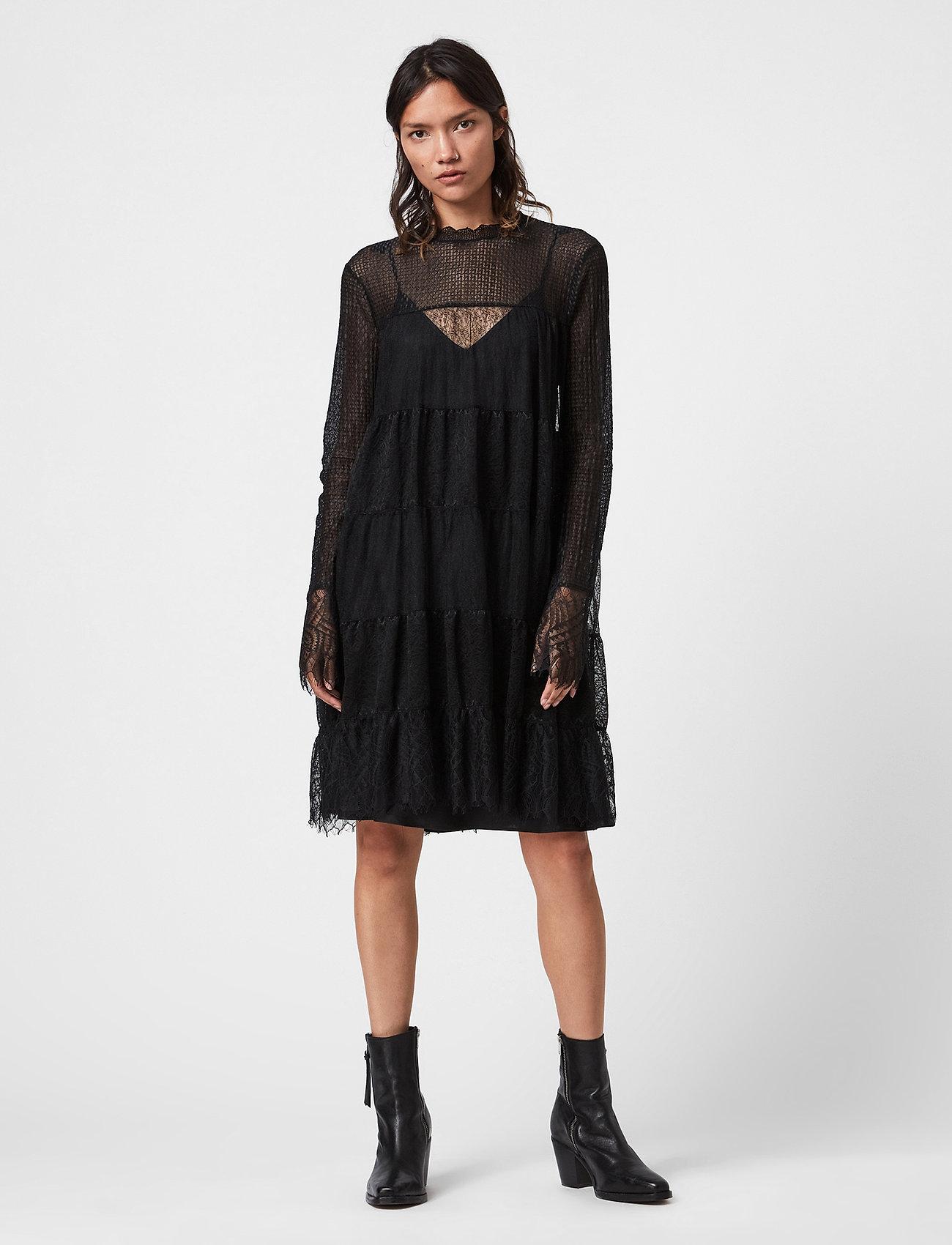 AllSaints - BRIELLA DRESS - blondekjoler - black - 0