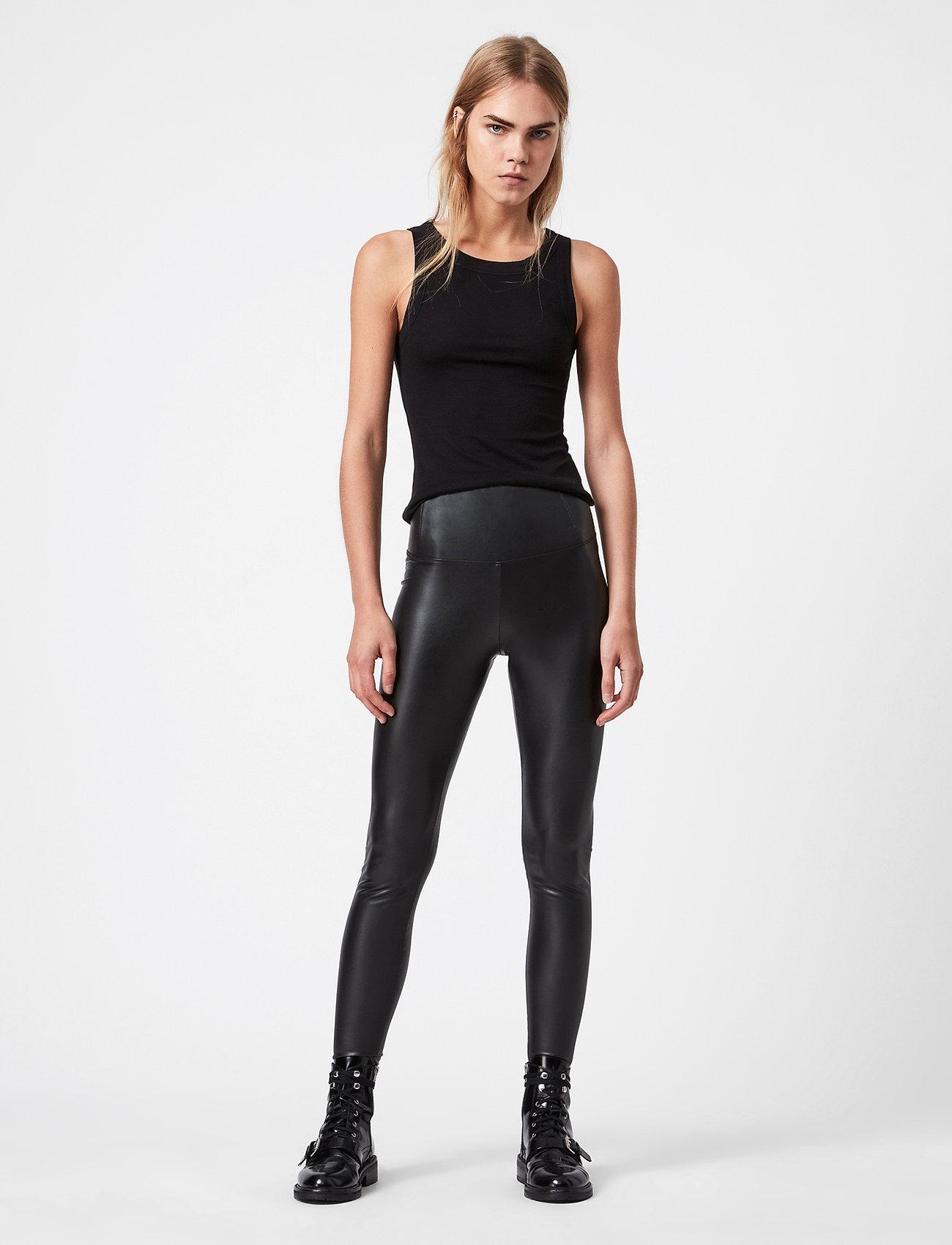 AllSaints - CORA LEGGINGS - læderbukser - black - 0