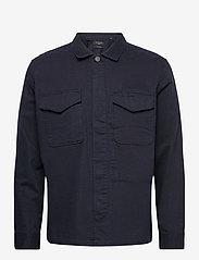 AllSaints - ADJUTANT LS SHIRT - vêtements - dark ink - 0