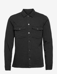 AllSaints - SPOTTER LS SHIRT - chemises de lin - black - 0