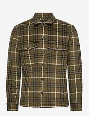 AllSaints - BERTHOLD LS SHIRT - chemises de lin - birch green/jt blk - 0