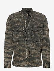 AllSaints - DEPLOY LS SHIRT - chemises de lin - black - 0