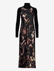 AllSaints - SIGOURNEY TYDY DRESS - kveldskjoler - black - 0