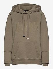 AllSaints - ALLSAINTS LUCIA HOOD - sweatshirts et sweats à capuche - khaki green - 0