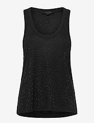 AllSaints - ORVI SPARKLE TANK - hauts sans manches - black - 0