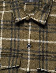 AllSaints - BERTHOLD LS SHIRT - chemises de lin - birch green/jt blk - 2