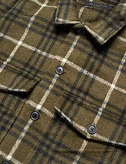 AllSaints - BERTHOLD LS SHIRT - chemises de lin - birch green/jt blk - 3