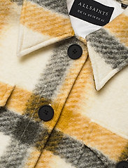 AllSaints - FENIX CHECK JACKET - wolljacken - ecru white/mustard - 2