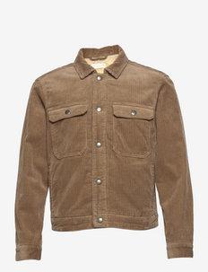 BRETTON JACKET - jeansjackor - mocha brown