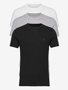 TONIC SS CREW 3 PK - basic t-shirts - optic/black/grey