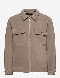 CLAYTON JACKET - basic-sweatshirts - mangrove brown