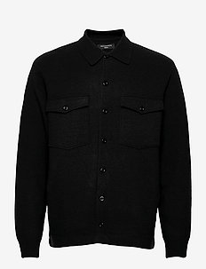 LORI CARDIGAN - wełniane kurtki - black