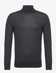 MODE MERINO ROLL NEC - basic knitwear - shadow grey marl