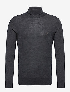 MODE MERINO ROLL NEC - tricots basiques - shadow grey marl