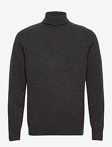 MASON ROLL NECK - basic knitwear - cinder black marl