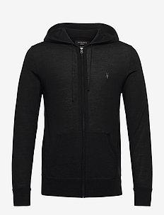 MODE MERINO ZIP HOOD - basic sweatshirts - black