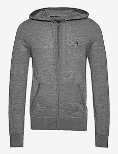 MODE MERINO ZIP HOOD - basic sweatshirts - grey marl
