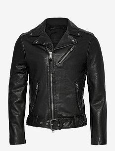 RIGG BIKER - læderjakker - black