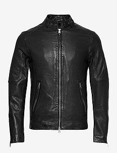 CORA JACKET - leather jackets - jet black