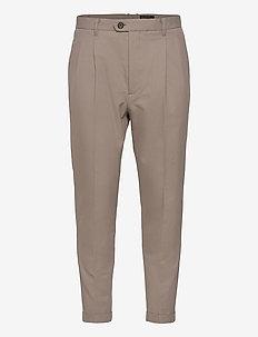 TALLIS TROUSER - dressbukser - stone grey