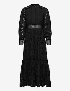SIA BRODERIE DRESS - aftenkjoler - black