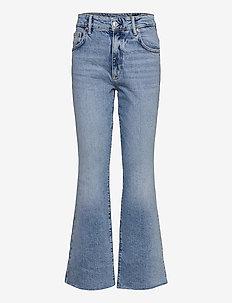 DAISY KICK FLARE - utsvängda jeans - mid indigo