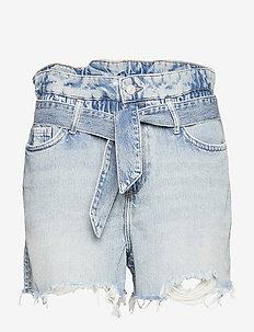 HANNAH PAPERBAG SHOR - denim shorts - mid indigo