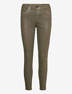 MILLER COATED JEAN - jeans skinny - khaki green