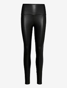 CORA LEGGINGS - læderbukser - black
