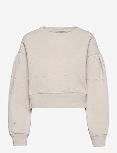 PEARL SWEAT - sweatshirts - ivory white
