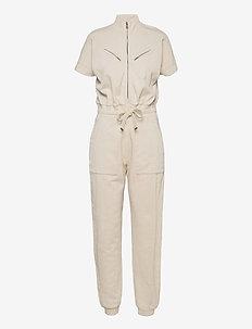 KAYLA JUMPSUIT - kleding - linnet white