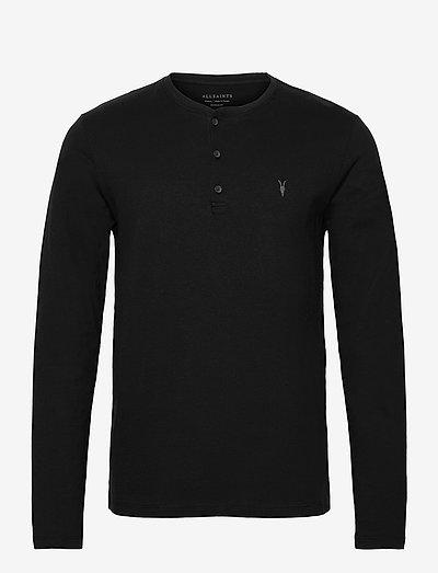 BRACE LS HENLEY - t-shirts basiques - jet black