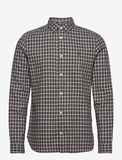 BALCOM LS SHIRT - oxford overhemden - ecru/oxblood