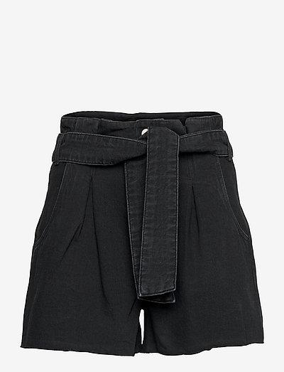 DIXIE PAPERBAG SHORT - paper bag shorts - washed black