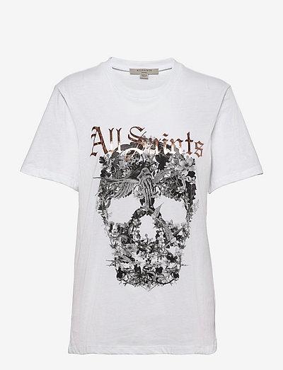 SKULL BOYFRIEND TEE - t-shirts - optic white