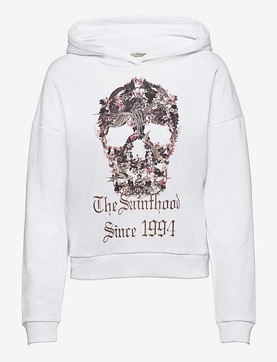 SKULL SASHA HOODY - sweatshirts en hoodies - optic white