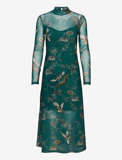 HANNA AMARE DRESS - party dresses - velvet green