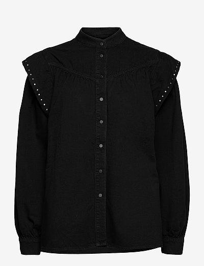 MAVA STUDDED SHIRT - chemises en jeans - black