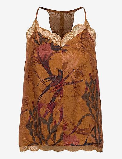 SEINIE NOLINA TOP - t-shirts & tops - cinnamon brown