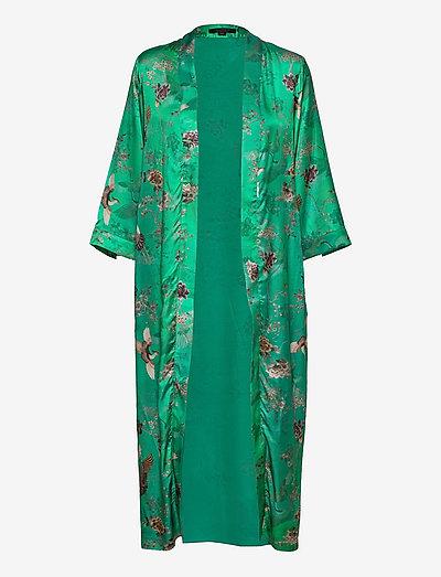 CARINE AMARE KIMONO - kimonos - velvet green