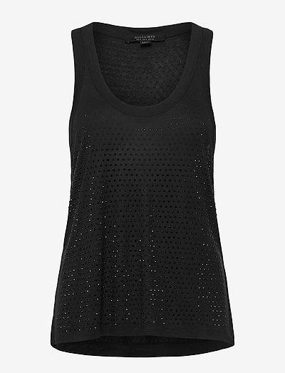 ORVI SPARKLE TANK - t-shirt & tops - black
