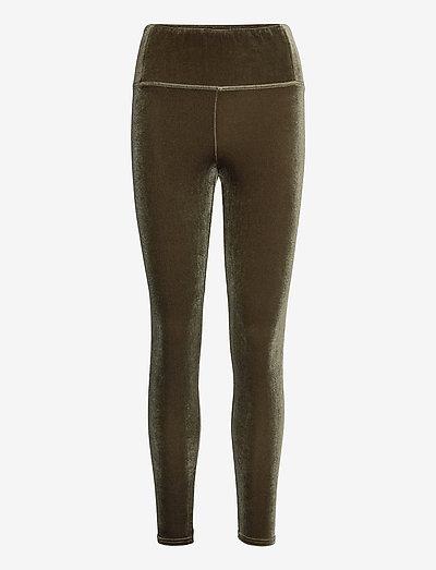 CORA VELVET LEGGING - leggings - khaki green